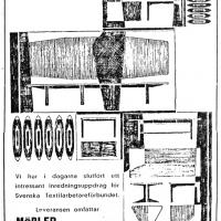 Annons i lokalpressen 1955. Foto Fredrik Chambert