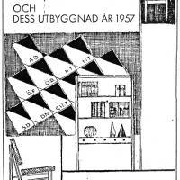 Annons i lokalpressen 1957. Foto Fredrik Chambert