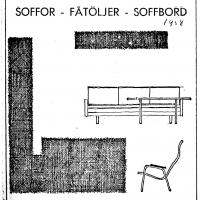 Annons i lokalpressen 1958. Foto Fredrik Chambert