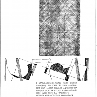 Annons i lokalpressen 1961. Foto Fredrik Chambert