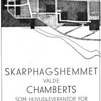 Annons i lokalpressen 1960. Foto Fredrik Chambert