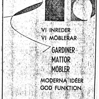 Annons i lokalpressen 1963. Foto Fredrik Chambert