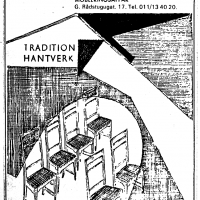 Annons i lokalpressen 1971. Foto Fredrik Chambert
