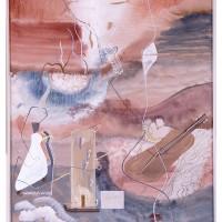 Flykten från landsbygden, 1940, gouache, 33x25,5 cm. Foto Pelle Stackman
