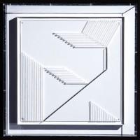 Gatan II,1982, relief i plexiglas i plexiglaslåda, 55x55x7 cm. Foto Pelle Stackman