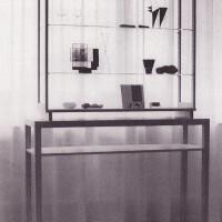 Monterskåp utställt på Bo i förstad i Norrköping 1959