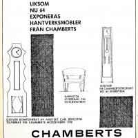 Annons i lokalpressen 1964. Foto Fredrik Chambert
