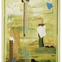 En dag på lasarettet, 1938, gouache, 34x26 cm. Foto Anders Rydén