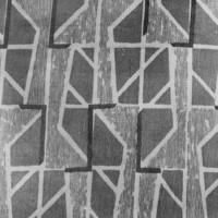 Vinklar, 1957. Tryckt hos Tabergs Yllefabrik. Skiss finns på Nationalmuseum.